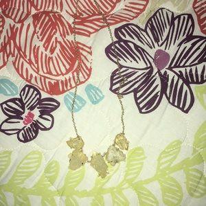 Faux citrine necklace